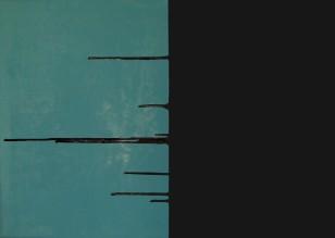 bez tytułu [niebiesko-czarny], 2007, 70x100cm