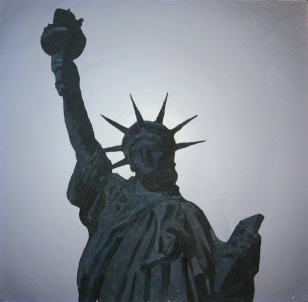 against the light - liberty dream, 2005, 73x73cm