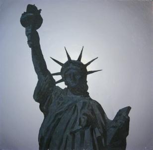 pod światło - liberty dream, 2005, 73x73cm