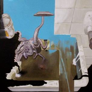 święty graal, 2006, 83x83cm