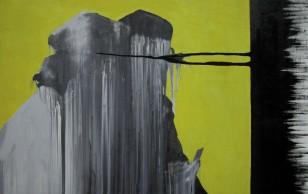 bez tytułu [żółto - czarny], 2007, 78x118cm