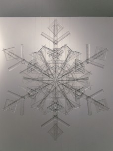 snowflake, 2010, rulers, squares, protractors, 1/3