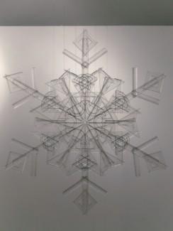 snowflake, 2010, rulers, squares, protractors, 1/3