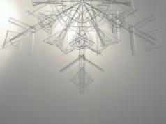 snowflake, 2010, rulers, squares, protractors, 2/3