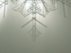 snowflake, 2010, rulers, squares, protractors, 3/3 (detail)