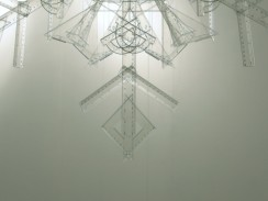 snowflake, 2010, rulers, squares, protractors, 3/3 (detail)