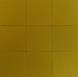 9 golden pieces, 2011, 90x90cm