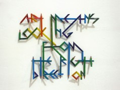 art means looking from the right direction, 2011, colored pencils 1/2