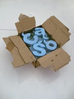 poliszbox, 2011, karton po wódce, styrodur, żywica epoksydowa, 1/2
