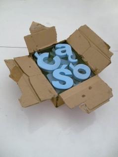 polishbox, 2011, vodka cardboard, epoxy resin, styrodur, 1/2