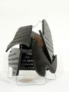 czarna bryła, 2012, styrodur, stal, 2/3