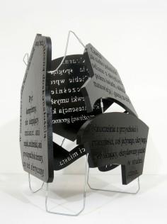 czarna bryła, 2012, styrodur, stal, 3/3