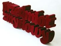przedmiot zmysłowy, 2013, styrodur, aksamit