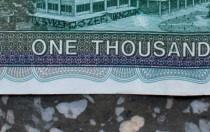here I was, Józef Tkaczuk, 2013, banknote 3/3 (detail)