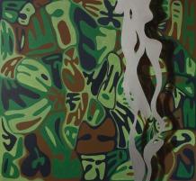 kamuflaż, 2014, 150x160cm