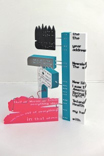 The Colour out of Space, 2014, plexiglas, styrodur, stal, 1/3