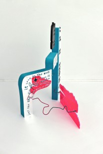 The Colour out of Space, 2014, plexiglas, styrodur, stal, 3/3