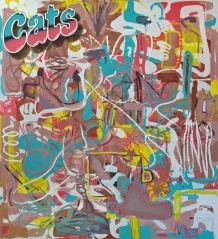 Cats, 2015, 200x180cm