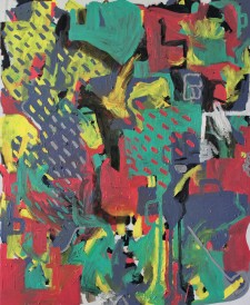 sea of sun and colorful plastic, 2016, 120x100cm