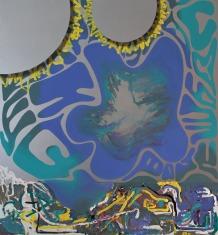 milka, drżące ręce, plastelina, 2016 140x120cm