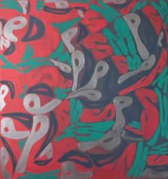 PDSM (Power-Death-Sex-Money), 2016, 160x150cm