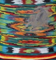 kawa kot kilim, 2017, 120x110cm