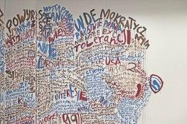 paper monster pelt, 2020, mural