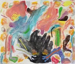 blackfire dance, 2020, 130x150cm